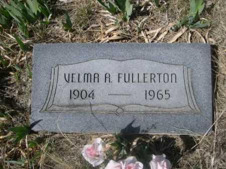 FULLERTON, VELMA A. - Sheridan County, Nebraska   VELMA A. FULLERTON - Nebraska Gravestone Photos