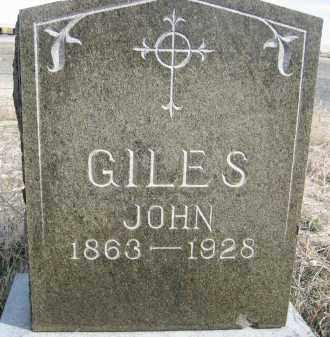 GILES, JOHN - Sheridan County, Nebraska | JOHN GILES - Nebraska Gravestone Photos