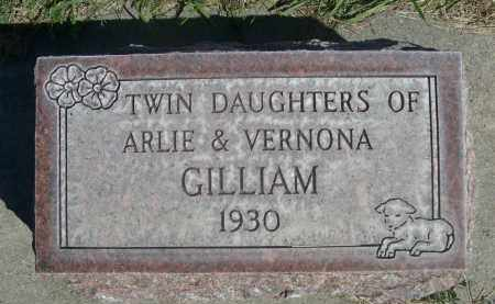 GILLIAM, TWIN DAUGHTERS OF ARLIE & VERNONA - Sheridan County, Nebraska | TWIN DAUGHTERS OF ARLIE & VERNONA GILLIAM - Nebraska Gravestone Photos