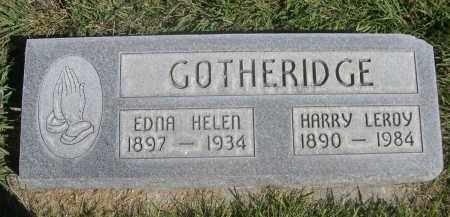 GOTHERIDGE, HARRY LEROY - Sheridan County, Nebraska   HARRY LEROY GOTHERIDGE - Nebraska Gravestone Photos