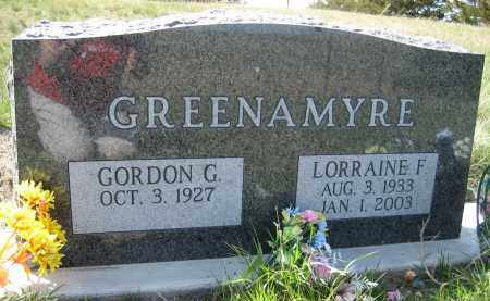 GREENAMYRE, LORRAINE F. - Sheridan County, Nebraska   LORRAINE F. GREENAMYRE - Nebraska Gravestone Photos