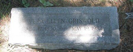 GRISWOLD, VERA ELLEN - Sheridan County, Nebraska | VERA ELLEN GRISWOLD - Nebraska Gravestone Photos