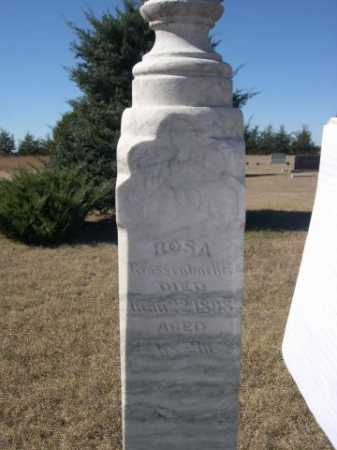 GROSSENBACKER, ROSA - Sheridan County, Nebraska | ROSA GROSSENBACKER - Nebraska Gravestone Photos