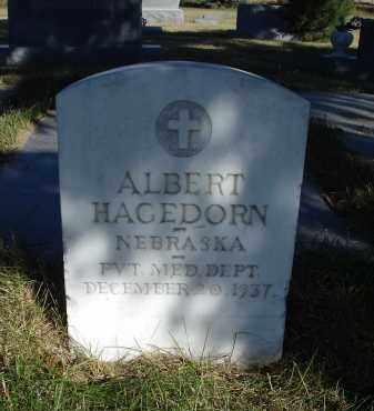 HAGEDORN, ALBERT - Sheridan County, Nebraska   ALBERT HAGEDORN - Nebraska Gravestone Photos