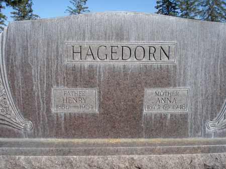 HAGEDORN, ANNA - Sheridan County, Nebraska | ANNA HAGEDORN - Nebraska Gravestone Photos