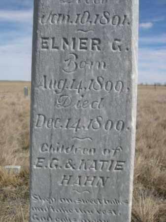 HAHN, ELMER G. - Sheridan County, Nebraska | ELMER G. HAHN - Nebraska Gravestone Photos