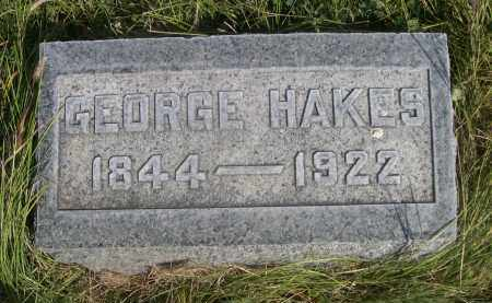 HAKES, GEORGE - Sheridan County, Nebraska | GEORGE HAKES - Nebraska Gravestone Photos