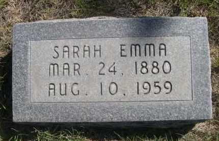 HANKINS, SARAH EMMA - Sheridan County, Nebraska | SARAH EMMA HANKINS - Nebraska Gravestone Photos