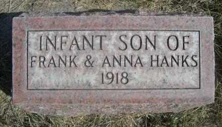 HANKS, INFANT SON OF FRANK & ANNA - Sheridan County, Nebraska | INFANT SON OF FRANK & ANNA HANKS - Nebraska Gravestone Photos