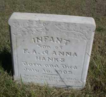 HANKS, INFANT SON OF F.A. & ANNA - Sheridan County, Nebraska | INFANT SON OF F.A. & ANNA HANKS - Nebraska Gravestone Photos