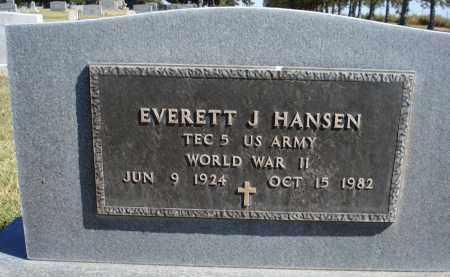 HANSEN, EVERETT J. - Sheridan County, Nebraska | EVERETT J. HANSEN - Nebraska Gravestone Photos