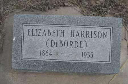 HARRISON, ELIZABETH - Sheridan County, Nebraska | ELIZABETH HARRISON - Nebraska Gravestone Photos