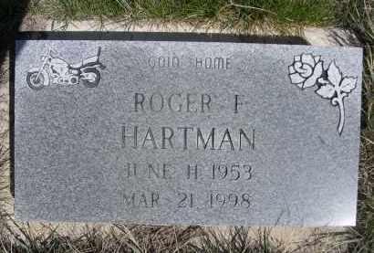 HARTMAN, ROGER F. - Sheridan County, Nebraska | ROGER F. HARTMAN - Nebraska Gravestone Photos