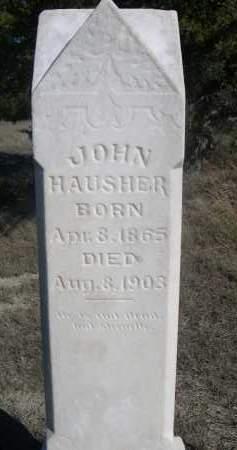HAUSHER, JOHN - Sheridan County, Nebraska   JOHN HAUSHER - Nebraska Gravestone Photos