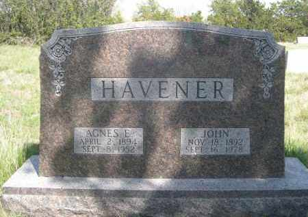 HAVENER, JOHN - Sheridan County, Nebraska | JOHN HAVENER - Nebraska Gravestone Photos