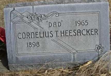 HEESACKER, CORNELIUS T. - Sheridan County, Nebraska   CORNELIUS T. HEESACKER - Nebraska Gravestone Photos