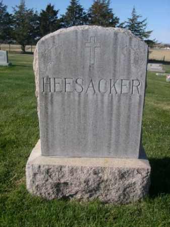 HEESACKER, FAMILY STONE - Sheridan County, Nebraska | FAMILY STONE HEESACKER - Nebraska Gravestone Photos