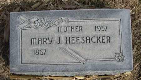 HEESACKER, MARY J. - Sheridan County, Nebraska | MARY J. HEESACKER - Nebraska Gravestone Photos
