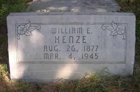 HENZE, WILLIAM E. - Sheridan County, Nebraska | WILLIAM E. HENZE - Nebraska Gravestone Photos