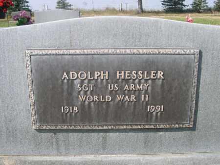 HESSLER, ADOLPH - Sheridan County, Nebraska   ADOLPH HESSLER - Nebraska Gravestone Photos