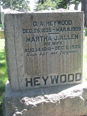 ALLEN HEYWOOD, MARTHA J. - Sheridan County, Nebraska | MARTHA J. ALLEN HEYWOOD - Nebraska Gravestone Photos