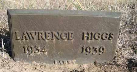 HIGGS, LAWRENCE - Sheridan County, Nebraska | LAWRENCE HIGGS - Nebraska Gravestone Photos
