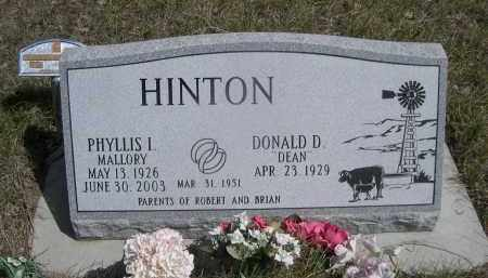"HINTON, DONALD D. ""DEAN"" - Sheridan County, Nebraska | DONALD D. ""DEAN"" HINTON - Nebraska Gravestone Photos"