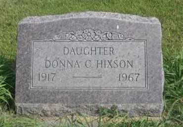 HIXSON, DONNA C. - Sheridan County, Nebraska | DONNA C. HIXSON - Nebraska Gravestone Photos