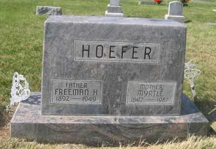 HOEFER, MYRTLE - Sheridan County, Nebraska | MYRTLE HOEFER - Nebraska Gravestone Photos