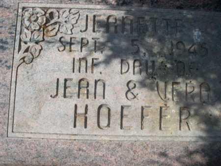HOEFER, JEANETTE - Sheridan County, Nebraska | JEANETTE HOEFER - Nebraska Gravestone Photos