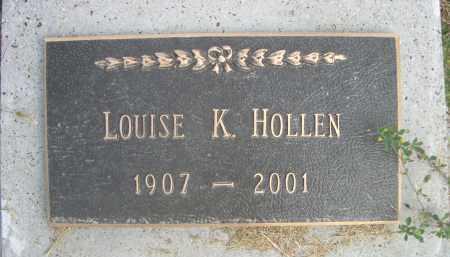 HOLLEN, LOUISE K. - Sheridan County, Nebraska   LOUISE K. HOLLEN - Nebraska Gravestone Photos
