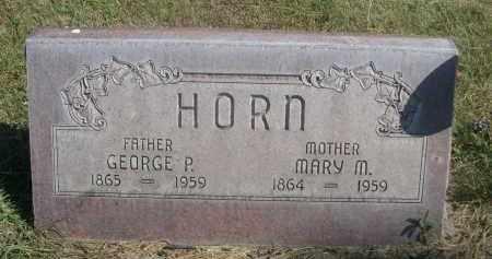 HORN, GEORGE P. - Sheridan County, Nebraska | GEORGE P. HORN - Nebraska Gravestone Photos
