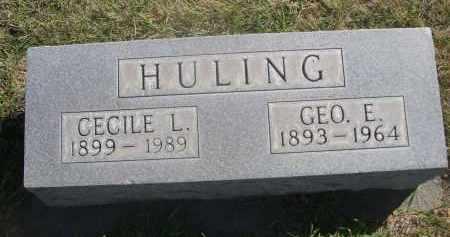 HULING, CECILE L. - Sheridan County, Nebraska | CECILE L. HULING - Nebraska Gravestone Photos