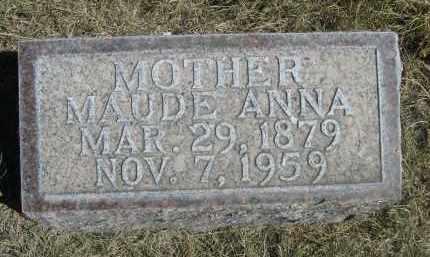 HUNTER, MAUDE ANNA - Sheridan County, Nebraska | MAUDE ANNA HUNTER - Nebraska Gravestone Photos