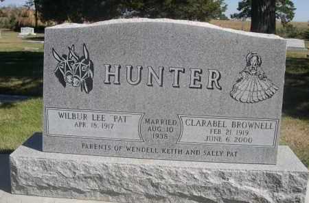 "HUNTER, WILBUR LEE ""PAT"" - Sheridan County, Nebraska | WILBUR LEE ""PAT"" HUNTER - Nebraska Gravestone Photos"