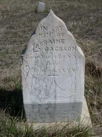 JACKSON, LORRAINE - Sheridan County, Nebraska | LORRAINE JACKSON - Nebraska Gravestone Photos