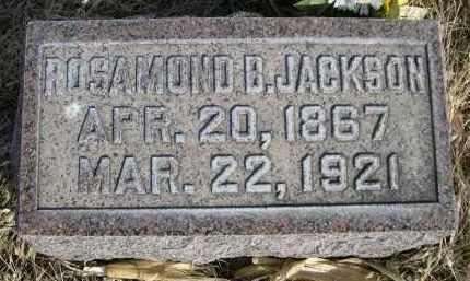 JACKSON, ROSAMOND B. - Sheridan County, Nebraska   ROSAMOND B. JACKSON - Nebraska Gravestone Photos