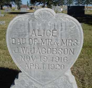 JACOBSON, ALICE - Sheridan County, Nebraska   ALICE JACOBSON - Nebraska Gravestone Photos