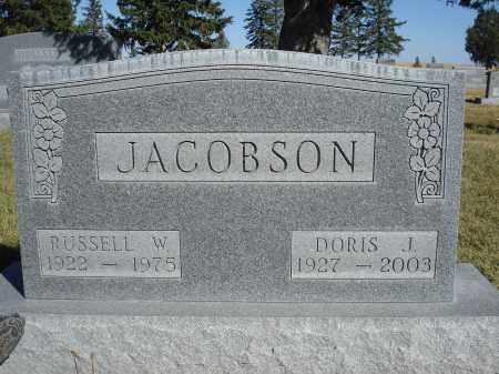 JACOBSON, DORIS J. - Sheridan County, Nebraska | DORIS J. JACOBSON - Nebraska Gravestone Photos