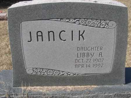 JANCIK, LIBBY A. - Sheridan County, Nebraska   LIBBY A. JANCIK - Nebraska Gravestone Photos