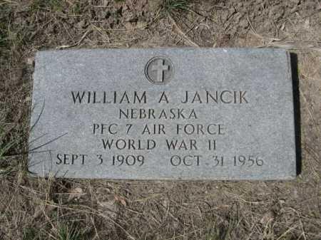 JANCIK, WILLIAM A. - Sheridan County, Nebraska   WILLIAM A. JANCIK - Nebraska Gravestone Photos