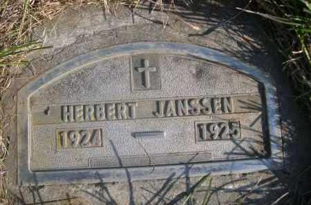 JANSSEN, HERBERT - Sheridan County, Nebraska   HERBERT JANSSEN - Nebraska Gravestone Photos