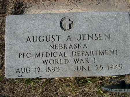 JENSEN, AUGUST A - Sheridan County, Nebraska   AUGUST A JENSEN - Nebraska Gravestone Photos