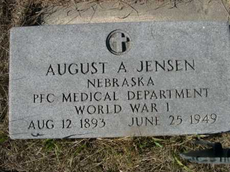 JENSEN, AUGUST A - Sheridan County, Nebraska | AUGUST A JENSEN - Nebraska Gravestone Photos