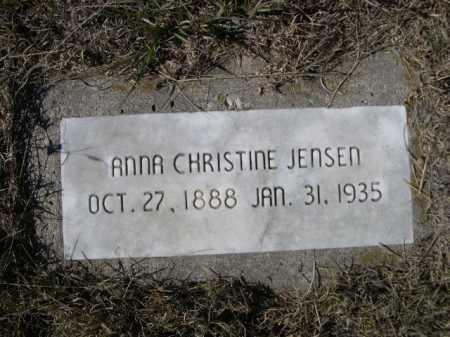 JENSEN, ANNA CHRISTINE - Sheridan County, Nebraska | ANNA CHRISTINE JENSEN - Nebraska Gravestone Photos