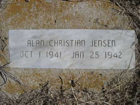 JENSEN, ALAN CHRISTIAN - Sheridan County, Nebraska | ALAN CHRISTIAN JENSEN - Nebraska Gravestone Photos