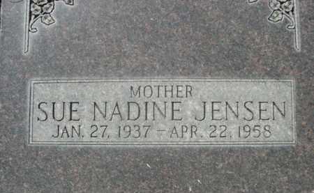 JENSEN, SUE NADINE - Sheridan County, Nebraska | SUE NADINE JENSEN - Nebraska Gravestone Photos