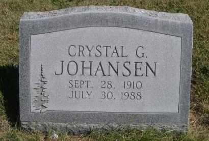 JOHANSEN, CRYSTAL G. - Sheridan County, Nebraska | CRYSTAL G. JOHANSEN - Nebraska Gravestone Photos