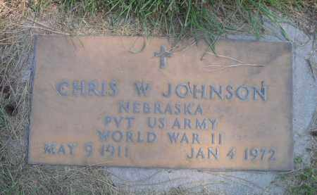 JOHNSON, CHRIS W. - Sheridan County, Nebraska | CHRIS W. JOHNSON - Nebraska Gravestone Photos