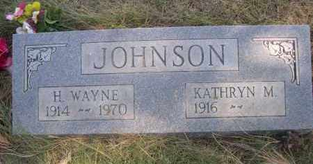 JOHNSON, H. WAYNE - Sheridan County, Nebraska | H. WAYNE JOHNSON - Nebraska Gravestone Photos